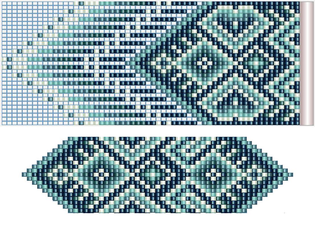Плетем гердан (гайтан) из бисера без станка. Схема плетения и мастер-класс.